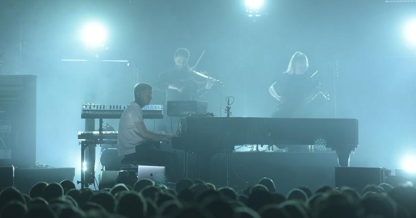 Ólafur Arnalds performed at London's Royal Albert Hall