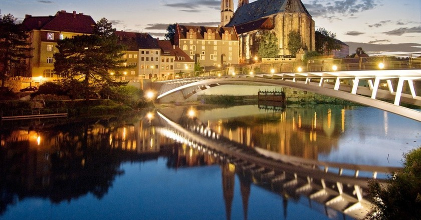 The Old Town Bridge, and a view of Görlitz from across the river