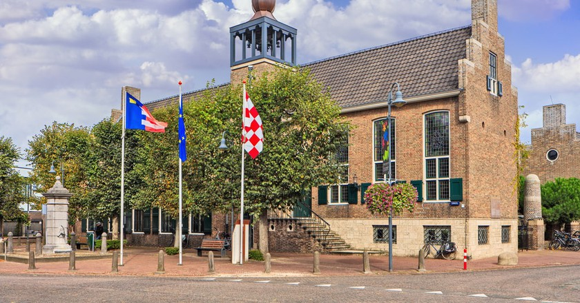 Town hall in Baarle-Nassau, Netherlands