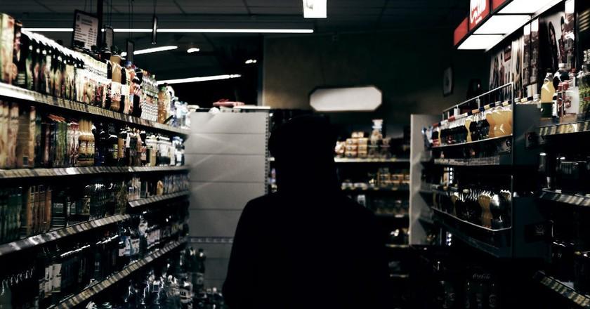 Shelves Of Alcohol