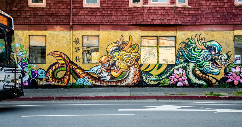 Luqman Lin is a graffiti artist and the founder of Dragon School in Oakland, California.