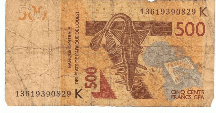 500 Central African Francs