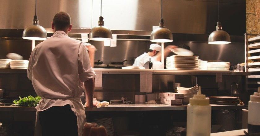 Chefs preparing a meal