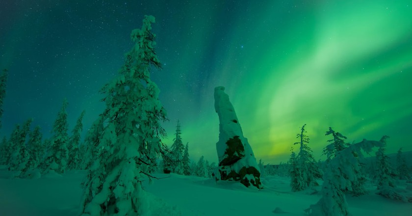 Northern Lights in the North of Yakutia, Russia