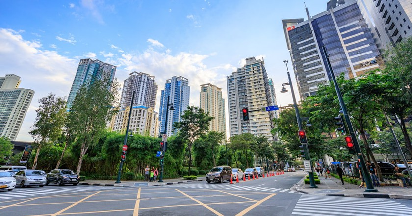 Bonifacio Global City in Taguig, Metro Manila, Philippines