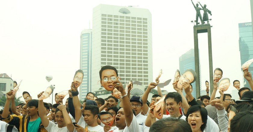 Car free day activities in Jakarta