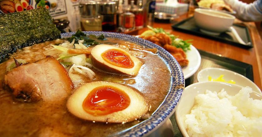 Shoyu (soy sauce) ramen.