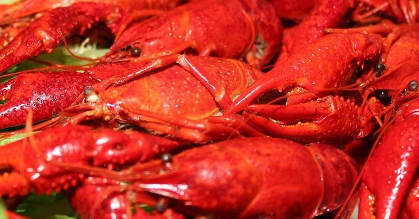 Spicy crayfish is a signature dish of Beijing's Guijie