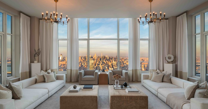 Penthouse 82 at 30 Park Place is currently on the market for $30 million USD