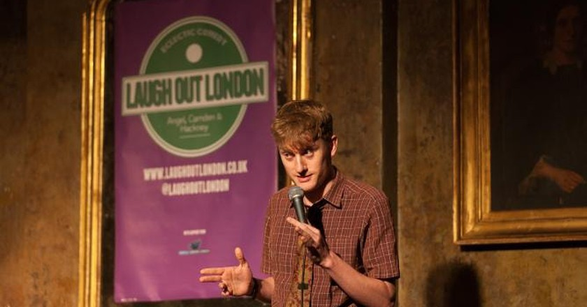 James Acaster performing at Laugh Out London