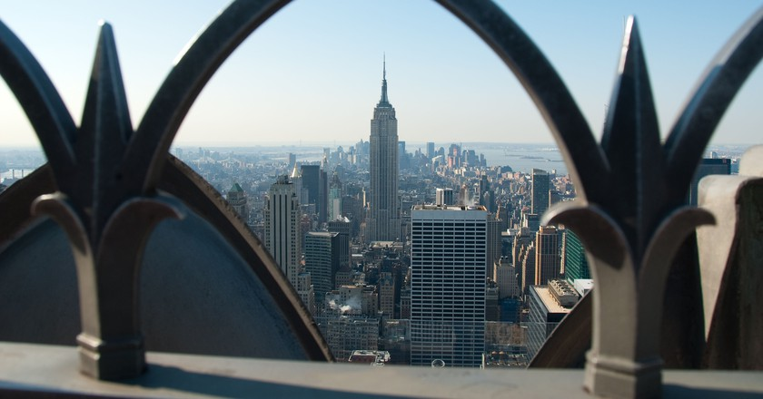 The Empire State Building from Rockerfeller Center, New York
