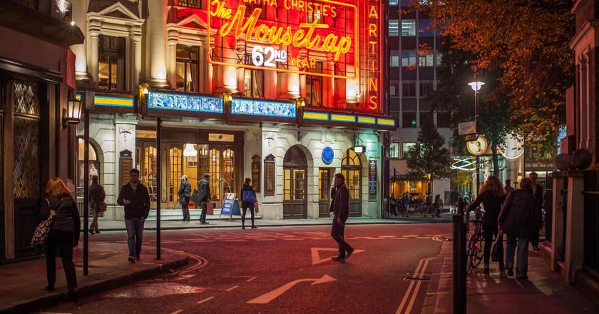 Feeaht Neon Lights Of The Famous St Martins Theatre Soho London