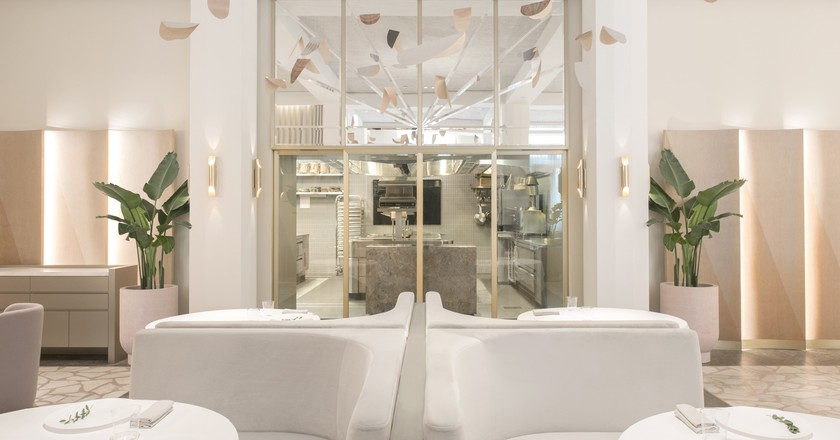 The soft and romantic interior of Odette