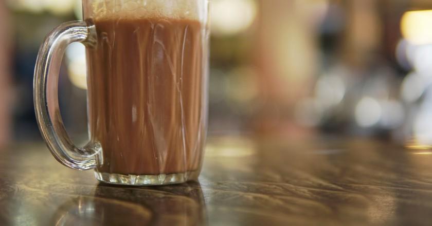 Famous drink in Malaysia known as Teh Tarik
