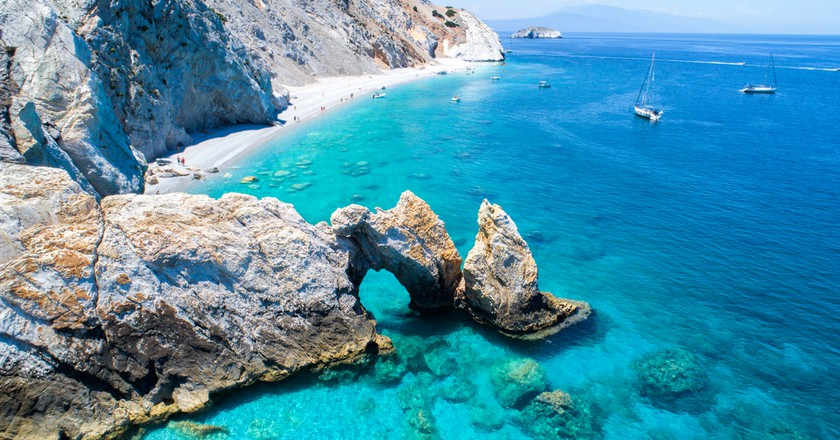 Lalaria beach in Skiathos, Greece