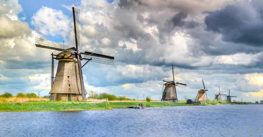 The windmills at Kinderdijk