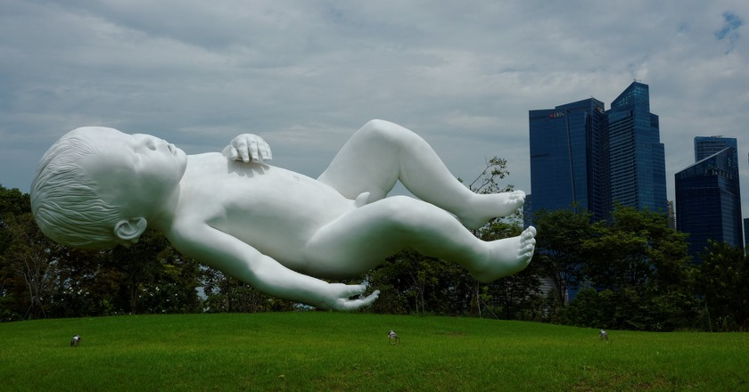 The sculpture was modelled on the artist's infant son