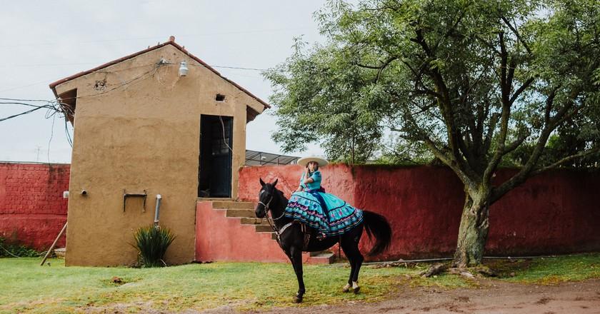Escaramuzas are the female counterpart to male charros