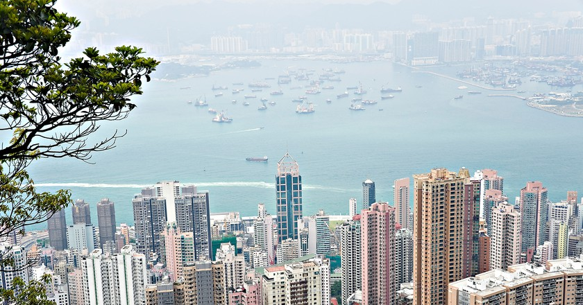 View of Hong Kong Island from Peak Walk