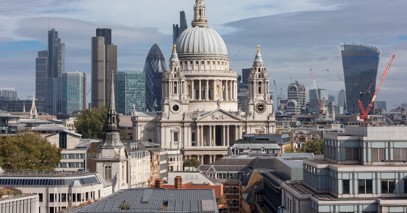 St Paul's is at the heart of the City of London