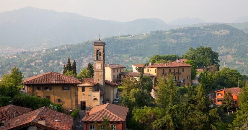 View over Bergamo, Lombardy, Italy