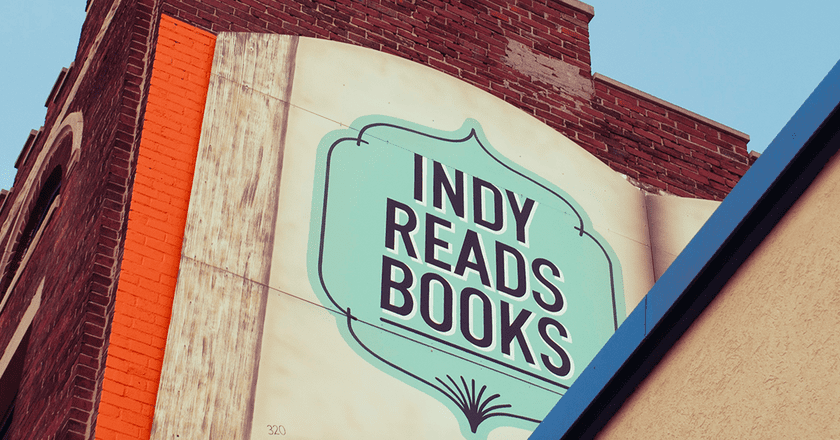 Indy Reads Books mural