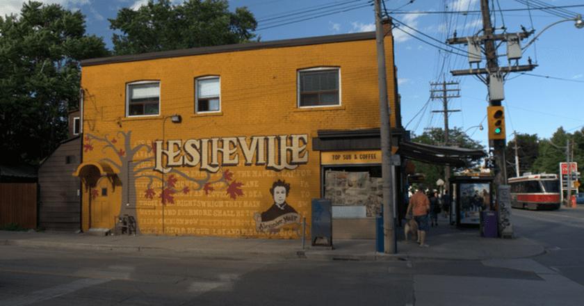 A mural on Jones Avenue in Leslieville   © Kieran Huggins/Wiki