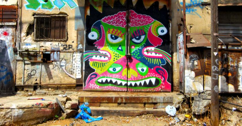 Graffiti in Florentin, Industrial area, Courtesy of Jesi Soifer