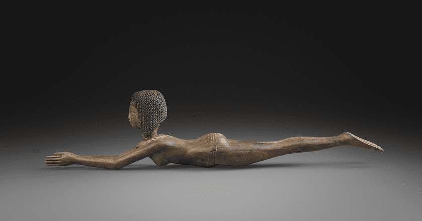 An Egyptian boxwood spoon in the form of the goddess Nut, 18th Dynasty, circa 1391-1363 at Forge & Lynch