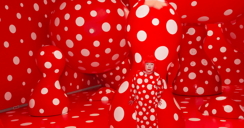 "Yayoi Kusama, Kusama with Dots Obsession, 2012 Installation View: Kusama's solo exhibition ""YAYOI KUSAMA ETERNITY OF ETERNAL ETERNITY"" at Matsumoto City Museum of Art, Nagano, Japan | © Yayoi Kusama/Courtesy of Moderna Museet, Stockholm"