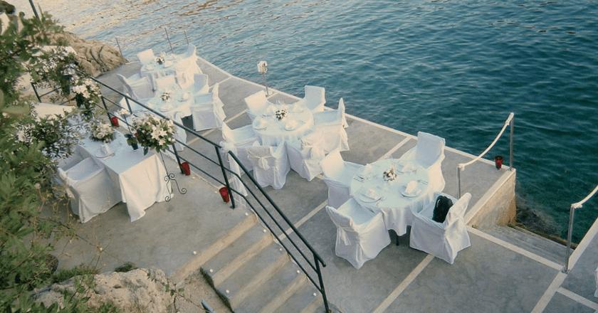 Sea-facing terrace, Hotel More, Dubrovnik
