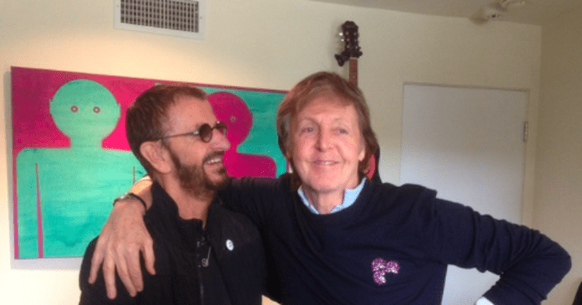Ringo Starr reunites with Paul McCartney   © Ringo Starr/Twitter