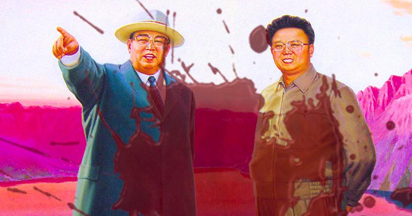 Wall Painting at Sinpyong Lake, North Korea, modified by J. Andrew Keegan