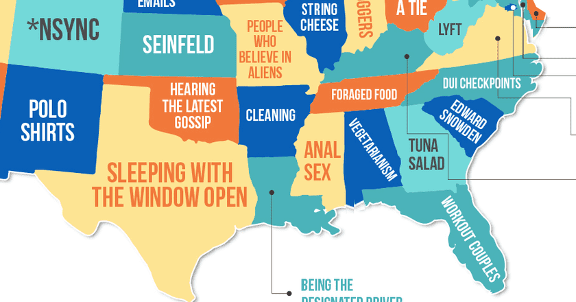 This Map Shows What Every American 'Hates' in Their State
