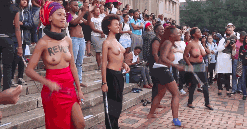 Topless Protests in South Africa | © YouTube / City Press