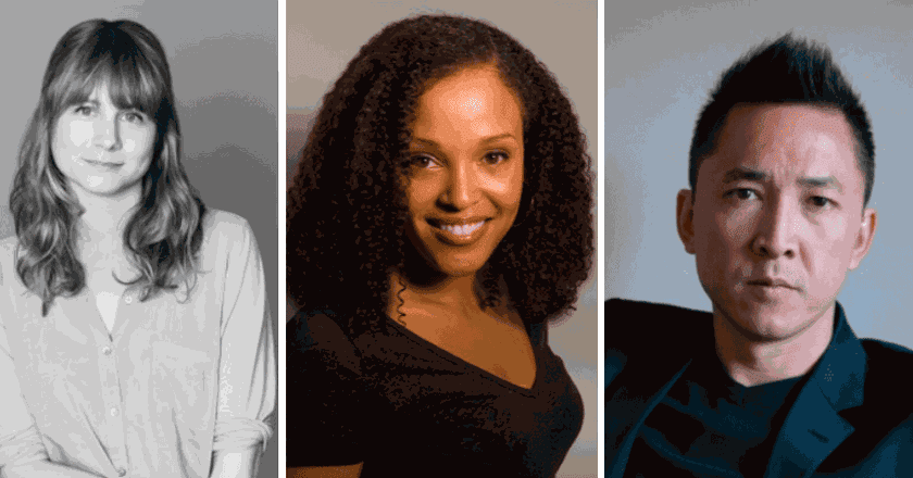 from left to right: Annie Baker, Viet Thanh Nguyen, Jesmyn Ward | photos courtesy of the Pulitzer Board and National Book Foundation