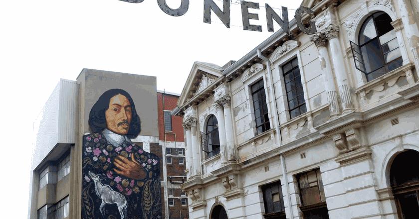 Mural of Jan van Riebeeck in Maboneng | © Adamina/Flickr