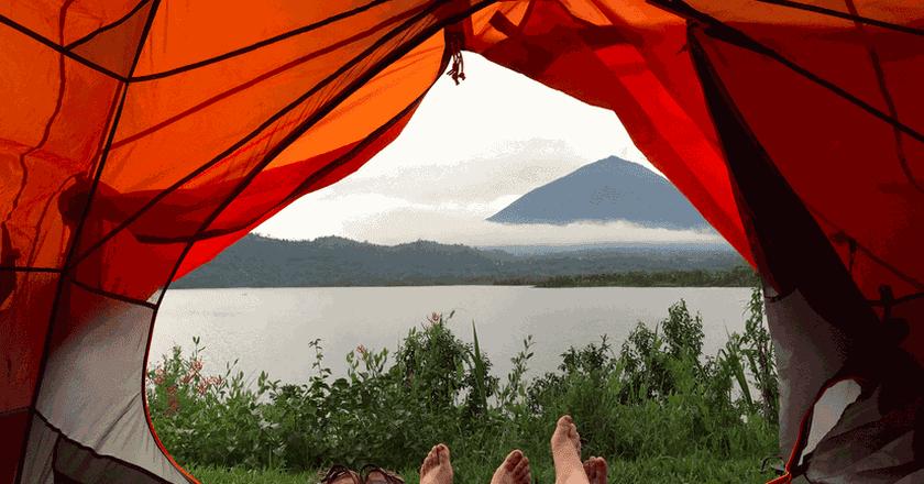 Camping on Lake Burera   © Courtesy of Leah Feiger