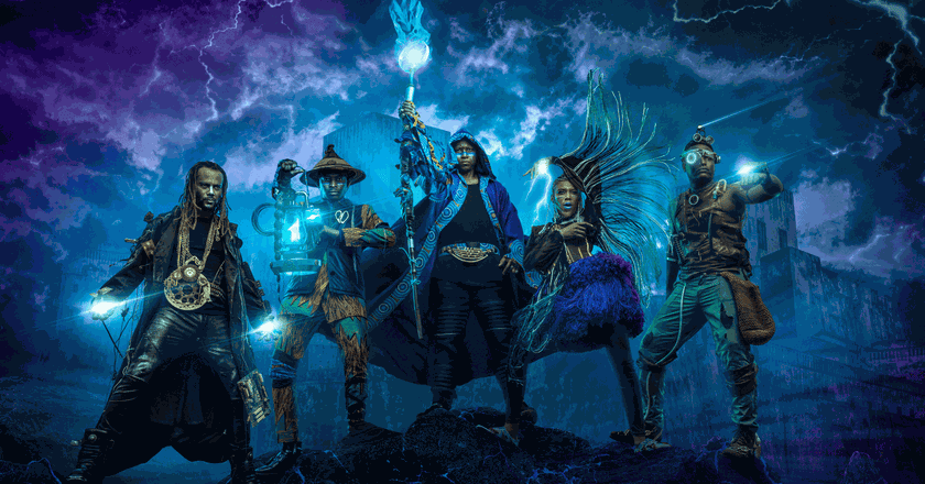 The headlining creatives portrayed as African-inspired superheroes | Courtesy of Absolut One Source Live