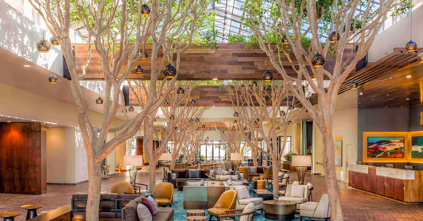 The lobby at the Portola Hotel and Spa in Monterey, CA© Portola Hotel & Spa