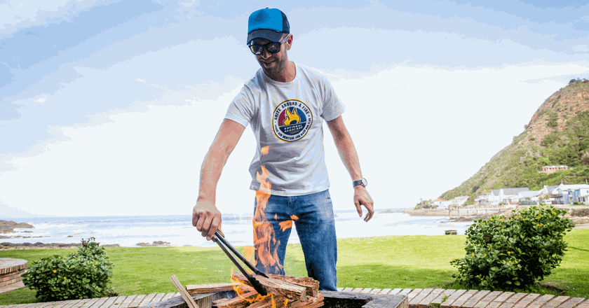 Jan Braai doing what he does best