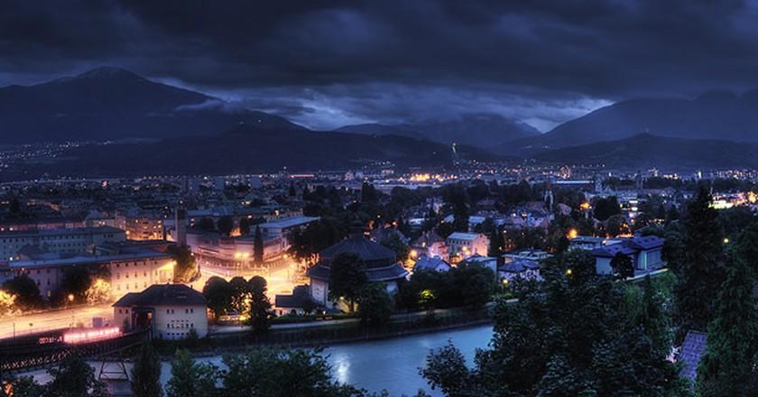 Innsbruck at night ©Alex Holzknecht