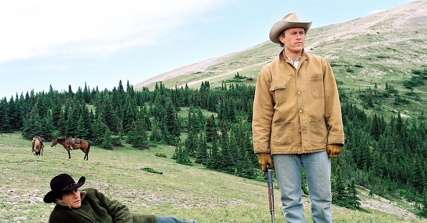 No Merchandising. Editorial Use Only. No Book Cover Usage. Mandatory Credit: Photo by Moviestore/REX/Shutterstock (1547465a) Brokeback Mountain,  Jake Gyllenhaal,  Heath Ledger Film and Television