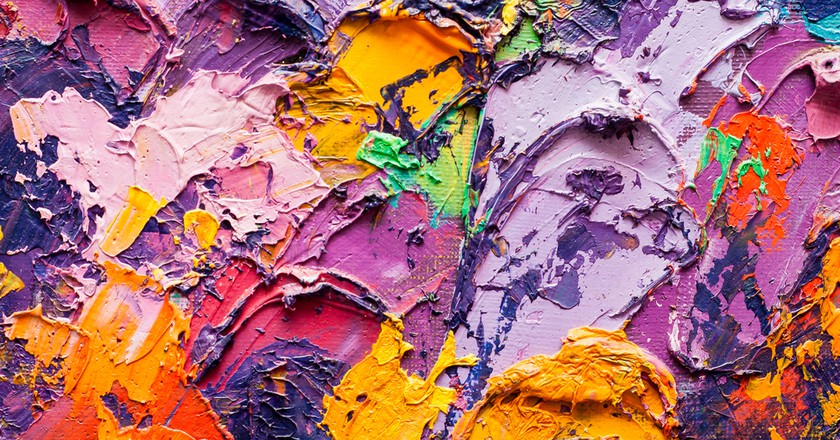 Abstract art background-Oil painting on canvas | © Sweet Art/Shutterstock