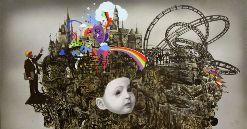 Ronald Ventura, 'Blind Child', 2011. Oil on canvas