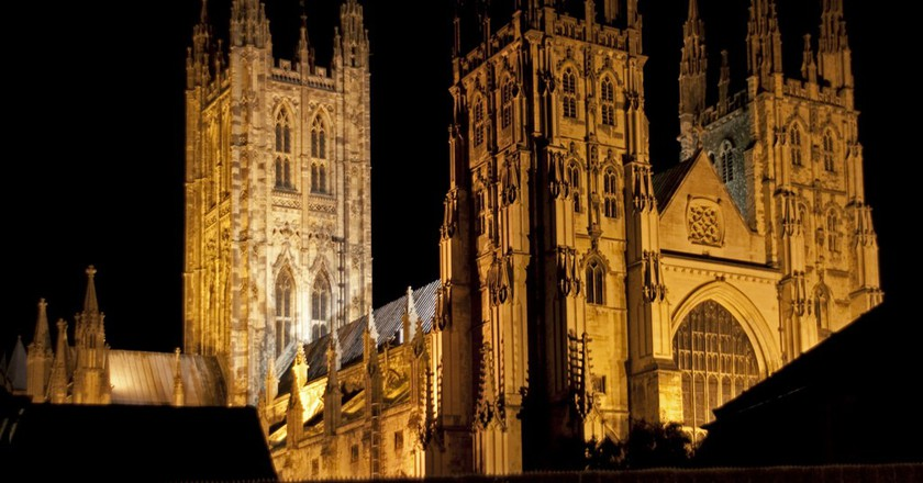 Canterbury Cathedral Night | ©Tony Hisgett/Flickr