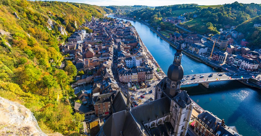 Aerial view of Dinant, Belgium and river Meuse © Beketoff Photography / Shutterstock