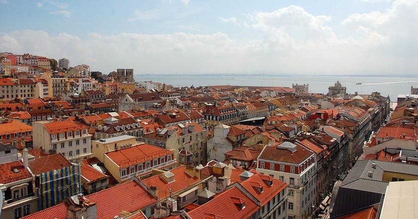 View of Baixa from the Elevador de Sta Justa  | © islandjoe / Flickr