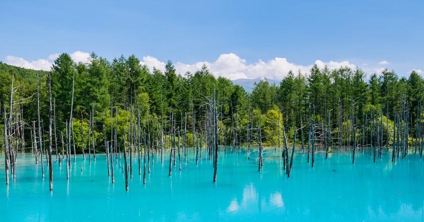 Blue Pond in Hokkaido Prefecture