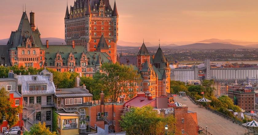 Frontenac Castle in Old Quebec City | © mervas/Shutterstock